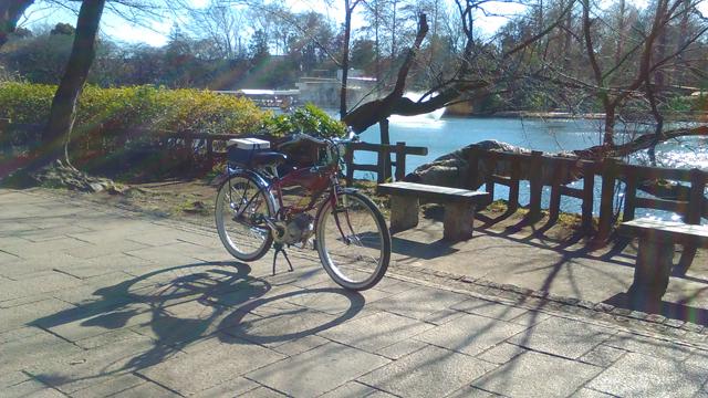 井の頭公園にて フキプランニングFK310LA3 バタバタ自転車・モペッド