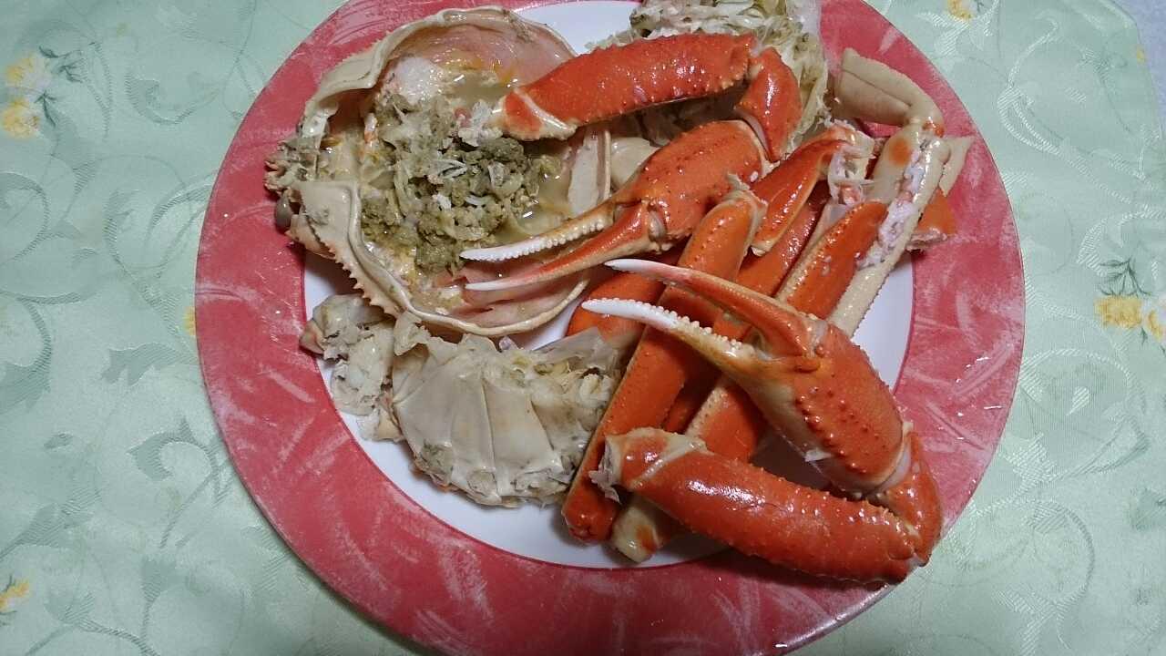 ボイル蟹を食べやすく