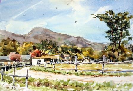 南が丘牧場の秋