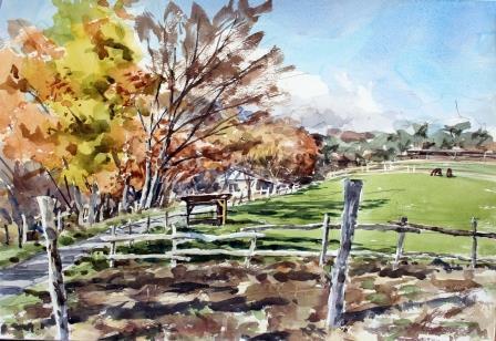 牧場の秋 ビフォー
