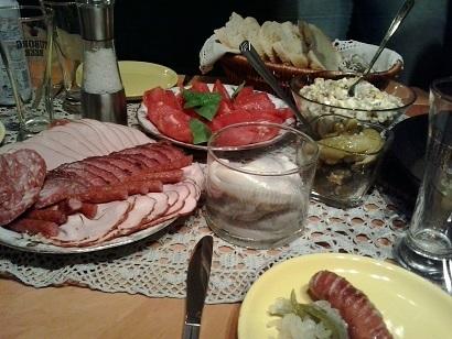 ポーランド人の夕食