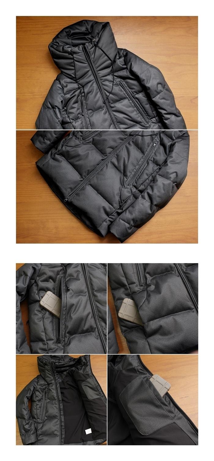 2016-12-15 ボリュームネックデザインスリムフィットストレッチダウンジャケット ガルヴァナイズ galvanize 5-vert