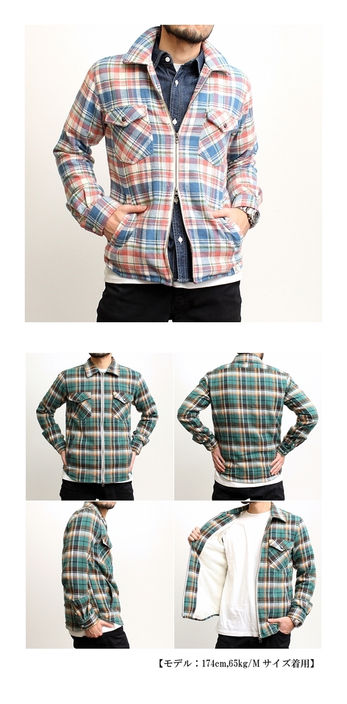 2017-01-10 ヴィンテージネップヤーンフランネル 裏ボア ジップ CPOシャツジャケット サインステイト SIGN STATE (6)-vert