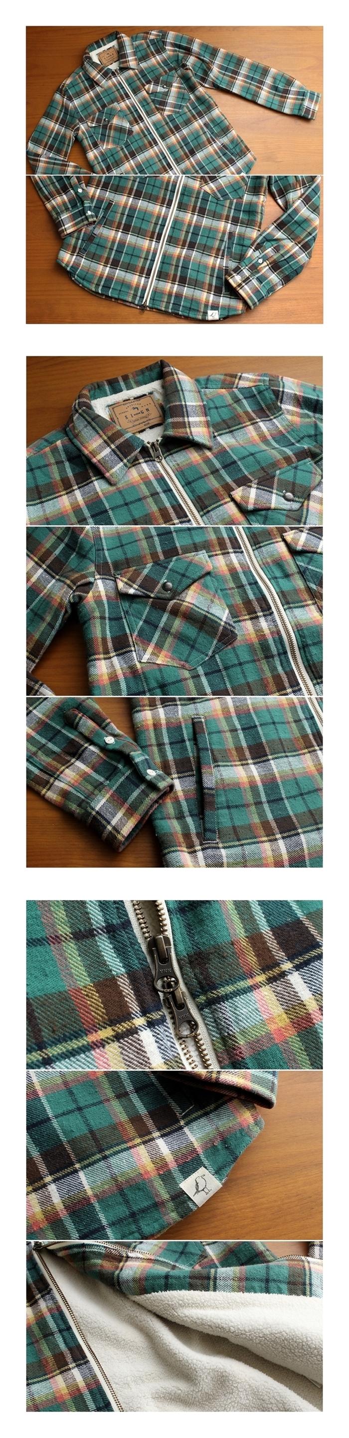 2017-01-10 ヴィンテージネップヤーンフランネル 裏ボア ジップ CPOシャツジャケット サインステイト SIGN STATE (8)-vert