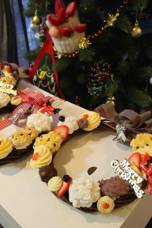 クッキーのクリスマスリース