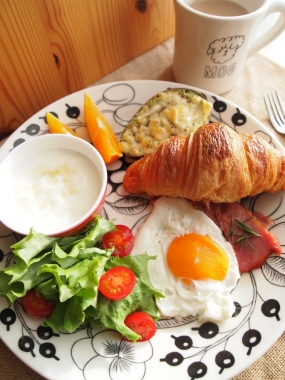 croissant & avocado gratin