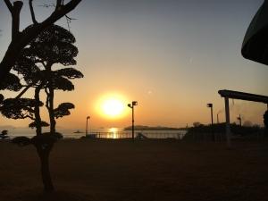 児島の夕日1