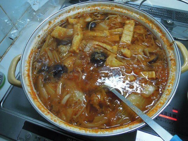 鳥団子キムチ鍋