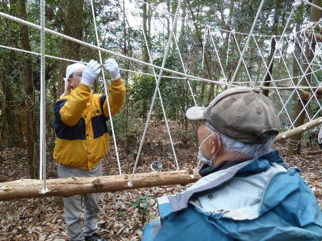 吊り橋作り
