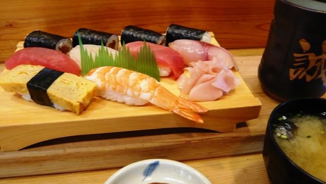 誠寿司:ランチ;にぎり2
