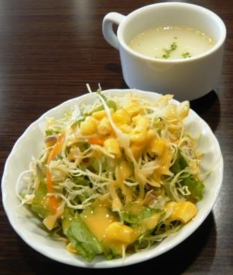 ガンジス川:Aセット ;サラダ、スープ1
