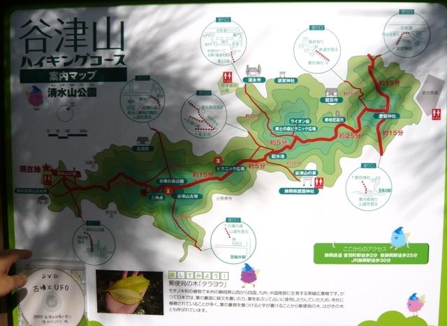 清水山公園:谷津山ハイキングコース看板