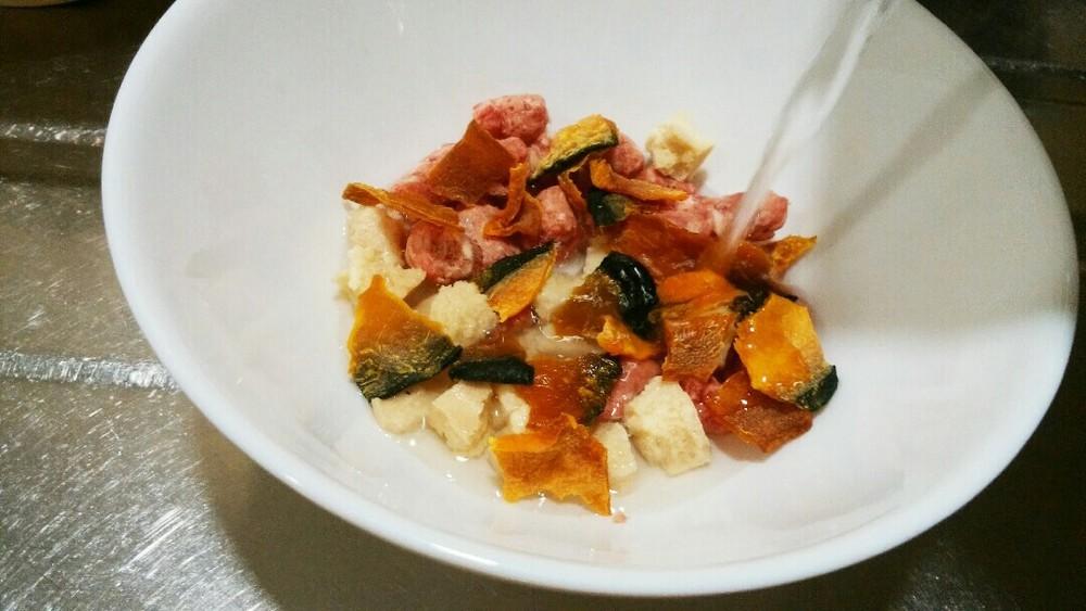 ラム肉とかぼちゃのおかゆの作り方1