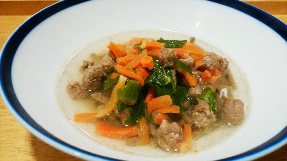 ラム肉とセロリの葉のスープかけごはんの作り方3