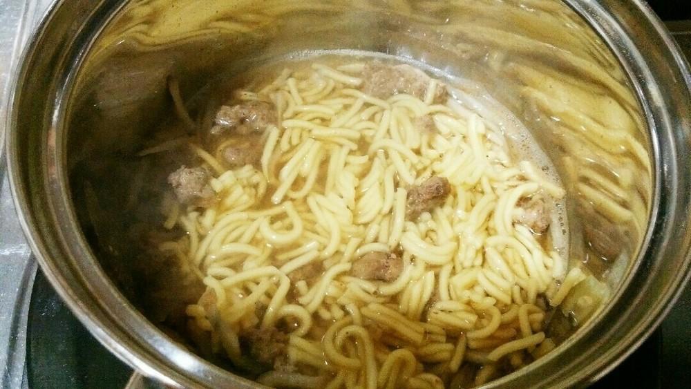 馬ミンチとごぼうのやわらか麺の作り方3