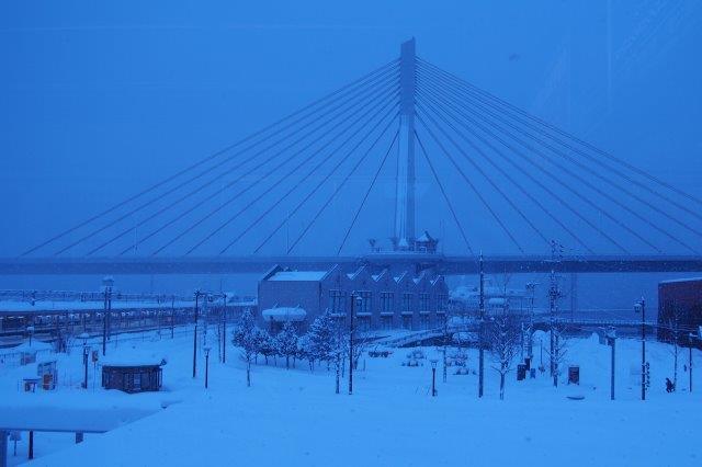 青森駅前 A-FACTORY冬景色
