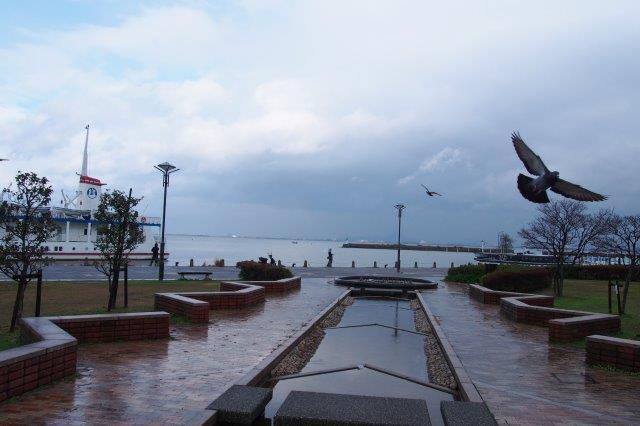 大津港 港の景色