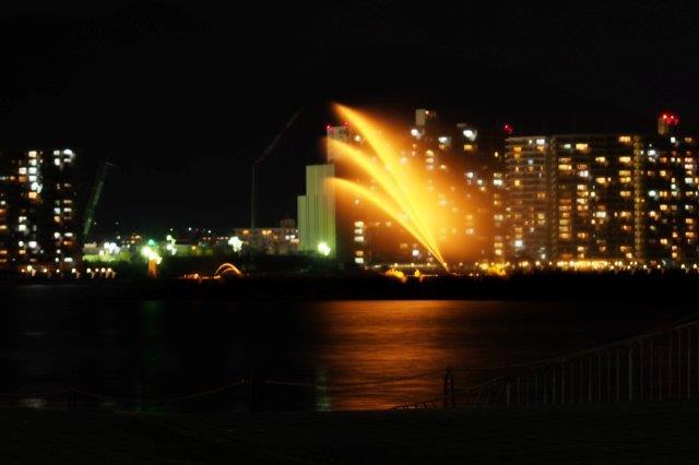 大津市浜大津 琵琶湖花噴水