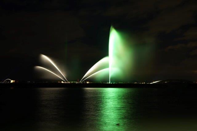 浜大津 琵琶湖花噴水ライトアップ
