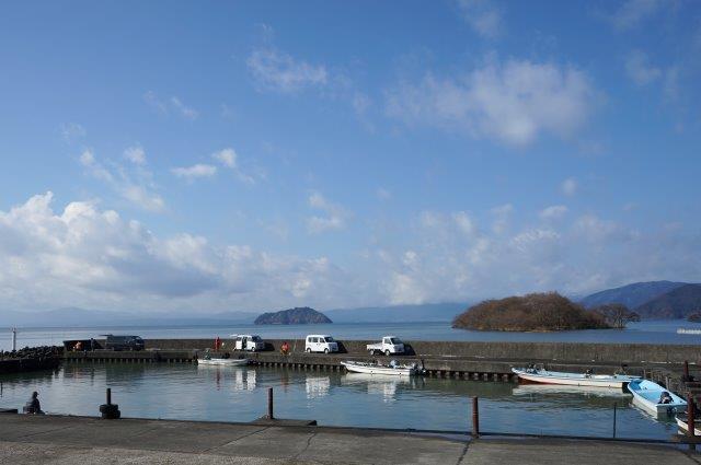 湖北町海老江  琵琶湖岸沿いにある入江