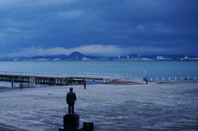 滋賀県大津市浜大津 大津湖岸なぎさ公園 湖岸の景色