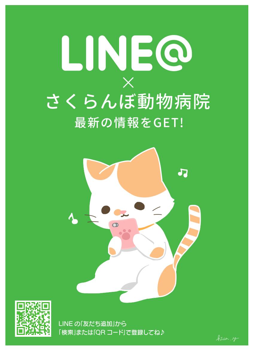 さくらんぼ動物病院LINE