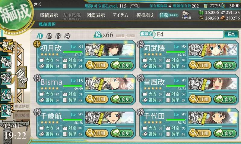 E4出撃メンバー