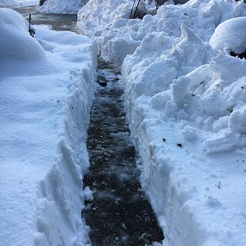 道なき雪原に道を作る