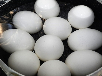 20161230二色玉子用の茹で卵