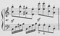 楽譜 ベートーヴェン「ヴァルトシュタイン 」第一楽章第67小節 オリジナル