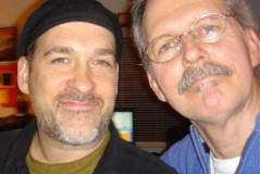 Charles Blenzig with Michael Franks at studio