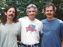 Tom Mark, David Benoit and Michael Franks recording Christmas Time is Here during a heat wave(Photo by Claudia Franks )