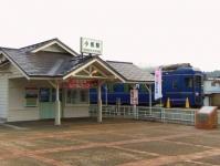 小坂ブルートレインあけぼの2小坂駅舎