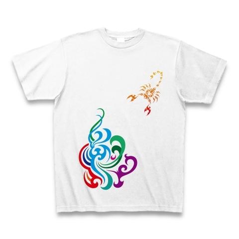 サソリと炎のデザインTシャツ