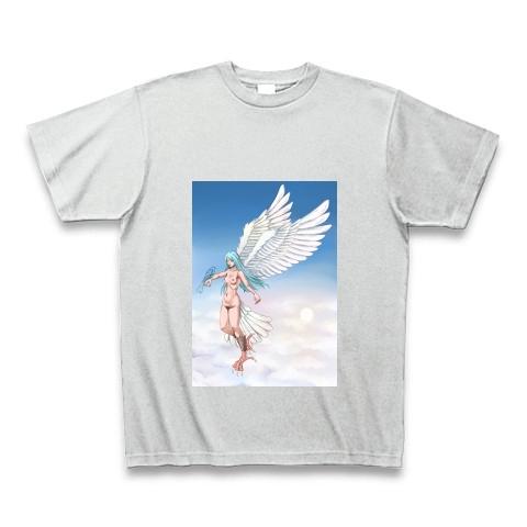 鳥の女(空の背景付き)