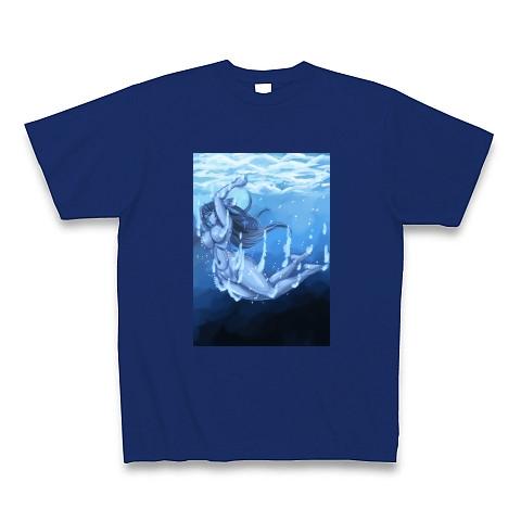 青の世界へ潜る-Tシャツ