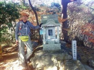 花園神社奥の院にて