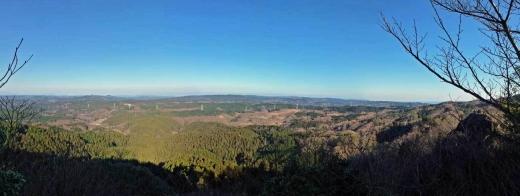 賀琵礼の峯からの風景