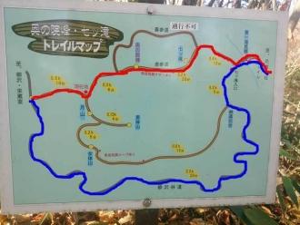 奥の院のマップ