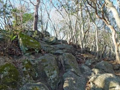 最大の難所の岩場