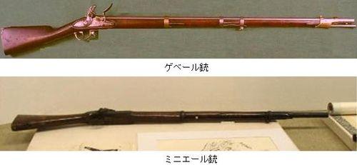 ゲベール銃とミニエー銃