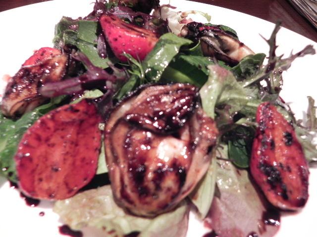 001牡蠣と苺の焦がし焼き
