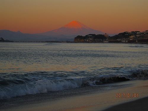 2017元旦の富士山