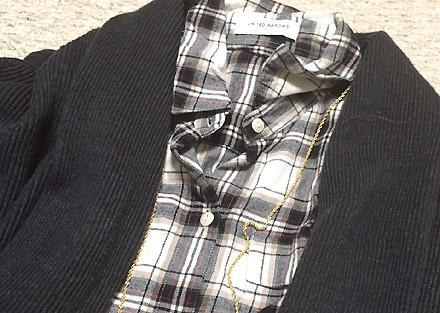 白黒のネルシャツがとても使える件