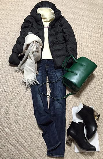 「YAHKI」のグリーンのバッグがお気に入りです!