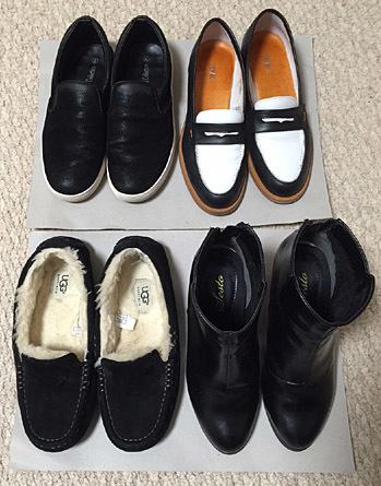 冬の通勤靴(メイン)。基本は黒ですね…。
