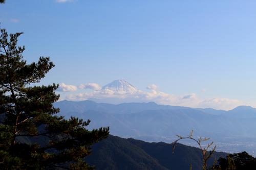 昇仙峡ロープウェイからの眺め 富士山