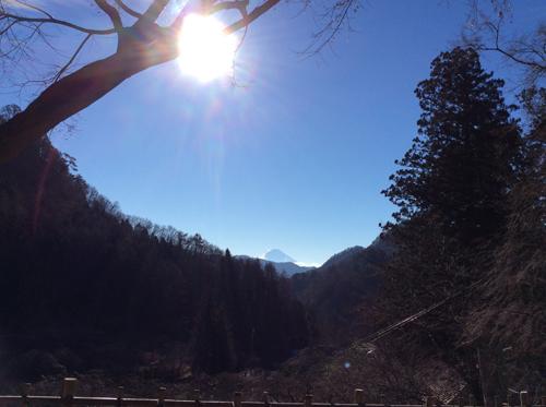 20161218 金櫻神社からの富士山