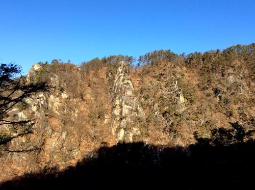 昇仙峡渓谷奇石20170107