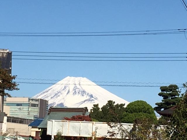大社途中富士山